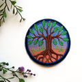 Celtic Style Tree of Life Embroidered and Iron on Patch