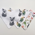 Koala, gum leaf and blossom  bandana bib set