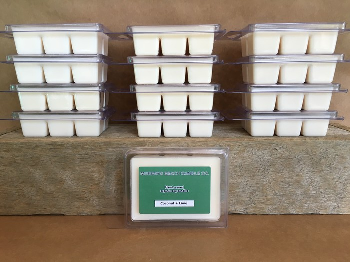 Lime + Coconut Organic Soy Wax Melts | Murrays Beach Candle Co  on