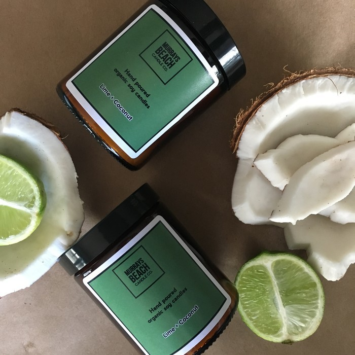 Lime + Coconut Organic Soy Wax Candle
