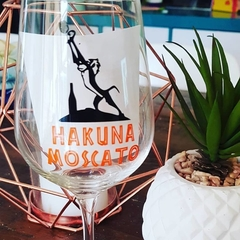 WINE GLASS DECAL - Hakuna Moscato - The Lion King