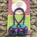 Purple butterfly hair ties