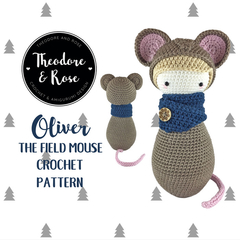 Oliver The Field Mouse Skittle Doll Crochet Pattern