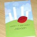 Football Birthday card - boys or girls - Aussie Rules Football