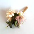 Australian Native Flowers Bridesmaid Bouquet - Artificial Protea & Gum Nuts