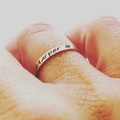 Hand Stamped Rings, Stacking Rings, Personalised Rings, Gift For Her