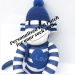 Personalised Felt Heart, Circle or Star for your Sock Softie