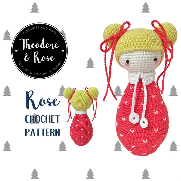 Ravelry: Rose Roxy flower doll pattern by Bas den Braver | 700x700
