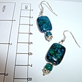 Stunning Azurite earrings.