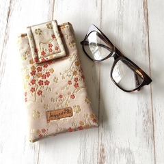 Luxury fabric glasses case, Chinese brocade glasses case