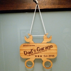 Personalised Father's Day Laser cut Sign | Plaque | Dad BBQ | Dad Garage | Dad S