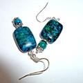 Stunning Azurite earrings.