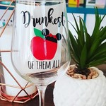 WINE GLASS DECAL - Drunkest of them all - Snow White