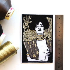 Gustav Klimt Judith 1 embroidered and iron on patch