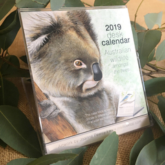 2019 Desk Calendar Australian wildlife - animal bird art gift  - recycled paper