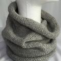 Unisex adult hand-knitted 100% AUSSIE-ALPACA COWL