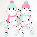 'Milly and Molly' the Little Sock Monkey Twins - *READY TO POST*