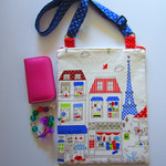 Satchel bag- French themed fabric.