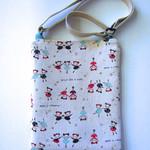 Satchel bag for girls, ballerina print