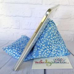 Technology Pillow: Batik in Blues & White