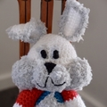 Buddy -Hand crocheted bunny rabbit;  safe, OOOK, present, baby shower