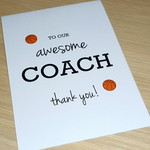 Awesome Coach Thank you card - any sport