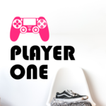PS4 Player One Wall Decal