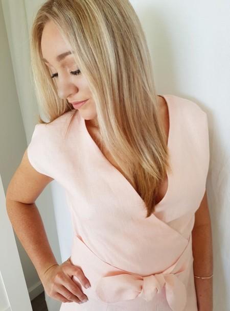 Women's Wrap Top in Linen