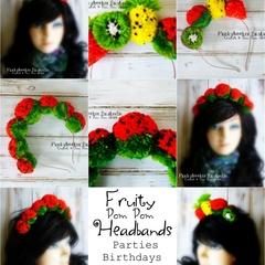 Fruit Pompom Headbands Party Headbands