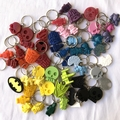 2 for 1 - 2 x BAG TAGS for $10 - LUCKY DIP - assorted designs bag tags, keyrings