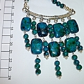 Azurite fringe necklace