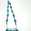 Azurite fringe necklace