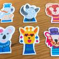 Mini animal stickers