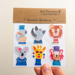 Mini animal stickers