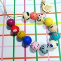 """Hand-painted """"SPARKY"""" Wooden Necklace!"""