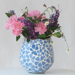 Mosaic Posy Vase in blue