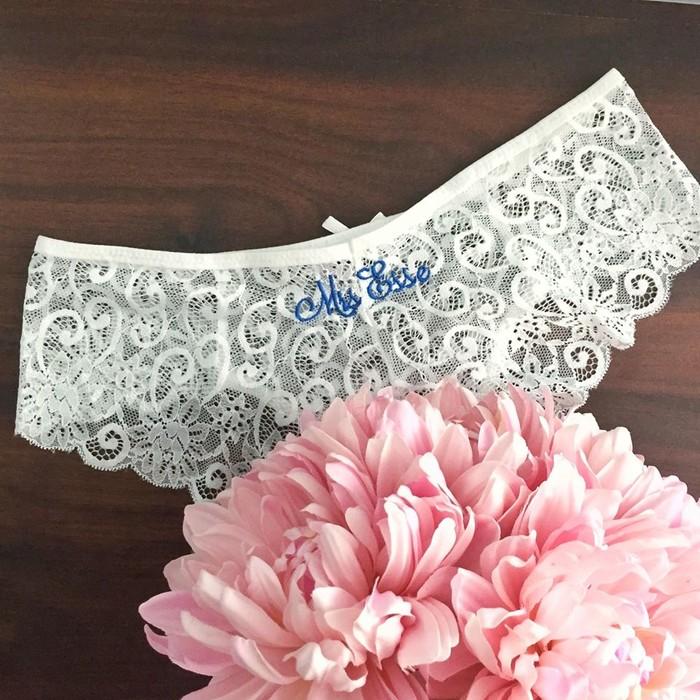 5183b9bd24e Personalised Bride Undies  Wedding underwear  Cheeky cut Undies bridal  lingerie
