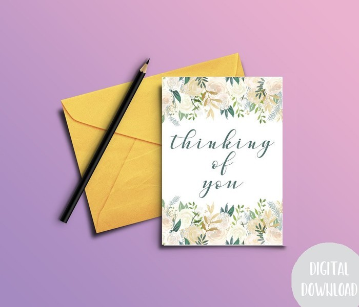 thinking of you card sympathy card digital download
