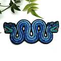 Aztec Double headed Snake Embroidered and Iron on Patch