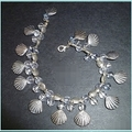 Shell, fish, glass bracelet
