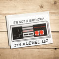 Old School Level Up Card