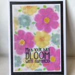 Bloom With Happiness Floral Flowers Birthday Greeting Card