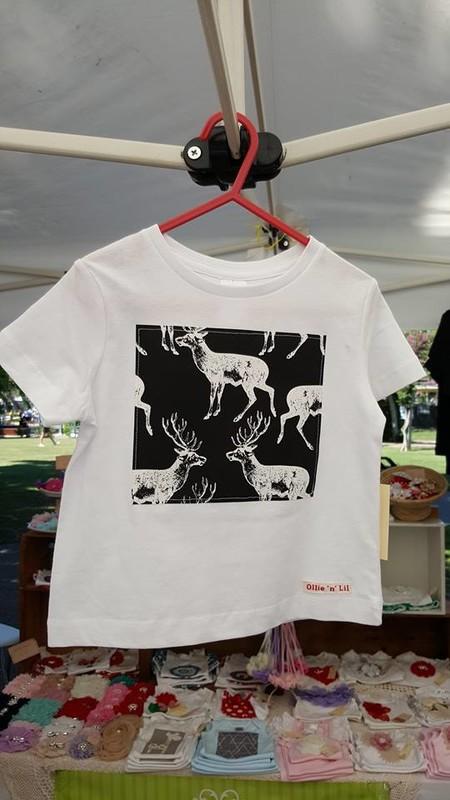 Woodland Deer Tee Shirt - White