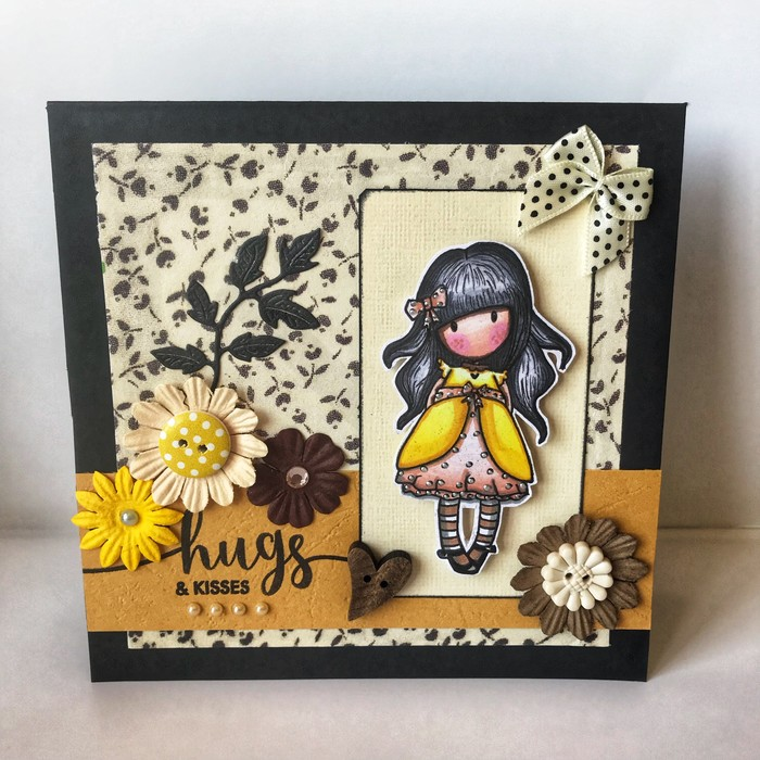 Hugs kisses cute floral neutral tones yellow greeting card the hugs kisses cute floral neutral tones yellow greeting card m4hsunfo