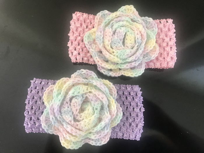 Crochet floral headbands, and crochet flower brooches | The Up-Market Creations | madeit.com.au