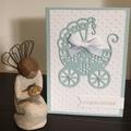 baby boy Card - free postage