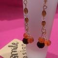 Fire orange and black dangle earrings.