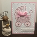 baby girl Card - free postage