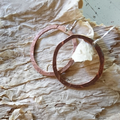 Hammered Copper Hoops - handmade, light and easy to wear