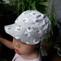 Adjustable Unisex Baby Sunhat legionnaire hat - pj cats